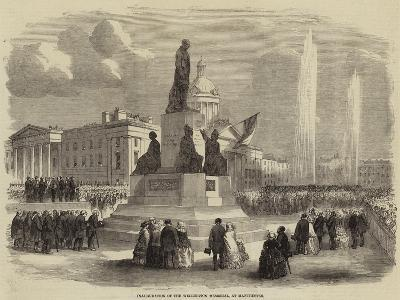 Inauguration of the Wellington Memorial, at Manchester--Giclee Print