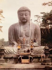 The Great Buddha of Kamakura (Daibutsu) Statue - K?toku-in Temple, Japan by Inc. Pacifica Island Art