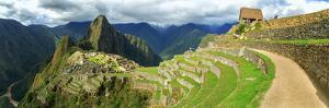 Inca City of Machu Picchu with Urubamba River, Urubamba Province, Cusco, Peru
