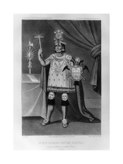 Inca Prince, National Costume, 1852-Jacques Francois Gauderique Llanta-Giclee Print