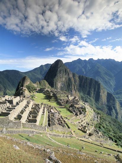 Inca Ruins in Morning Light, Machu Picchu, Unesco World Heritage Site, Urubamba Province, Peru-Gavin Hellier-Photographic Print