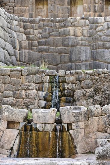 Inca Waterfall, Tambomachay, Cusco-Matthew Oldfield-Photographic Print