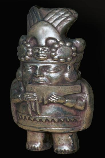 Incan silver figure of a man with pan-pipes-Unknown-Giclee Print