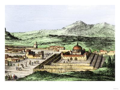 Incan Temple of the Sun in Cuzco, Peru, 1500s--Giclee Print