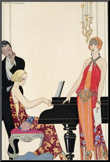 Incantation, Illustration for 'Gazette Du Bon Ton', 1922 (Pochoir Print)-Georges Barbier-Mounted Print
