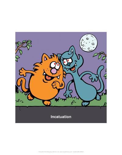 Incatuation - Antony Smith Learn To Speak Cat Cartoon Print-Antony Smith-Art Print