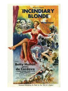 Incendiary Blonde, Betty Hutton, Arturo de C—rdova Cordova, 1945, USA
