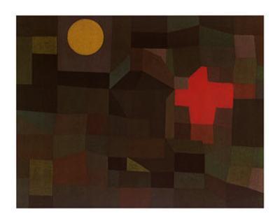 Incendio Sotto la Luna Piena-Paul Klee-Art Print