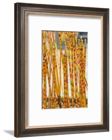 Incense at Sik Sik Yuen Wong Tai Sin Temple, Kowloon, Hong Kong, China.-Michael DeFreitas-Framed Photographic Print