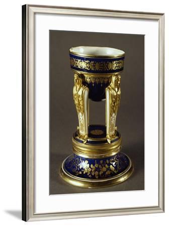 Incense Burner Balanced on Caritidi, Porcelain, Viennese Manufacture, Austria--Framed Giclee Print
