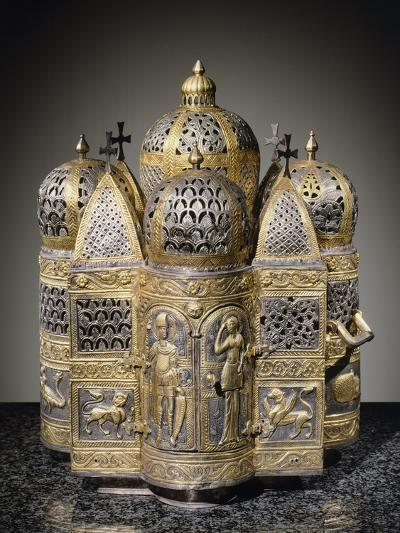 Incense Burners and Reliquary in Shape of Domed Building, Filigreed--Giclee Print