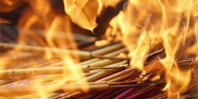 Incense Burns for Good Fortune in a Temple in Beijing, China-Diego Azubel-Photographic Print