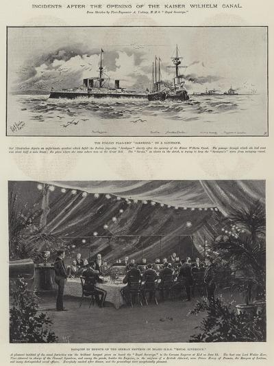 Incidents after the Opening of the Kaiser Wilhelm Canal--Giclee Print