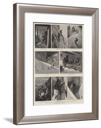 Incidents of Climbing in the High Alps--Framed Giclee Print