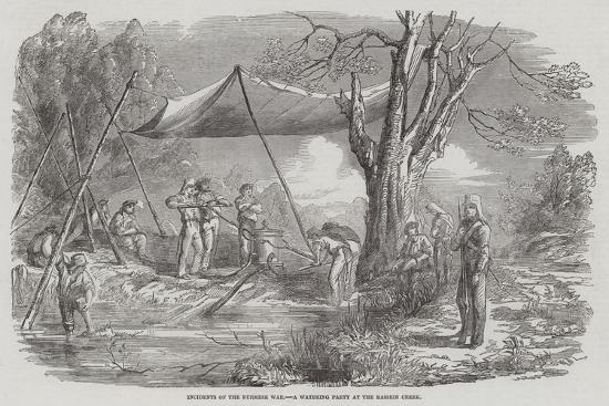 Incidents of the Burmese War, a Watering Party at the Bassein Creek--Giclee Print