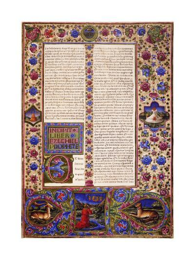 Incipit from Book of Ezekiel--Giclee Print