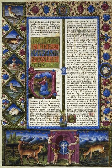 Incipit from Book of Jeremiah--Giclee Print