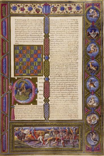 Incipit from Book of Judges, from Volume I of Bible of Borso D'Este--Giclee Print