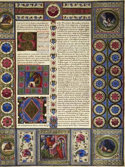 Incipit from Book of Micah, from Volume II of Bible of Borso D'Este--Giclee Print