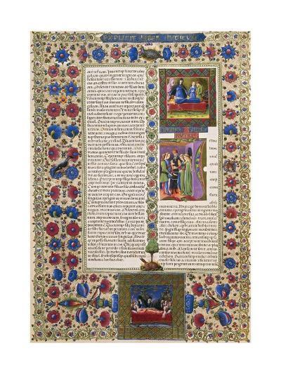 Incipit from Book of Ruth, from Volume II of Bible of Borso D'Este--Giclee Print
