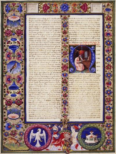 Incipit from Book of Sirach, from Volume I of Bible of Borso D'Este--Giclee Print