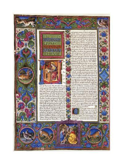 Incipit from Gospel According to Matthew--Giclee Print