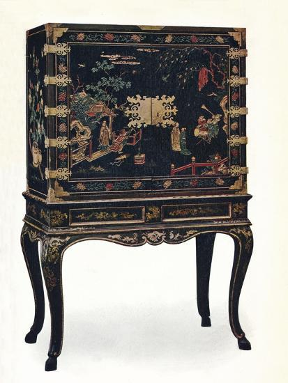 'Incised Lacquered Cabinet', c1680, (1910).-Unknown-Giclee Print