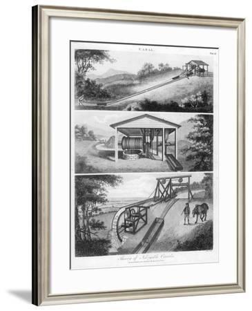 Inclined Planes for Use on Canals, 1796--Framed Giclee Print