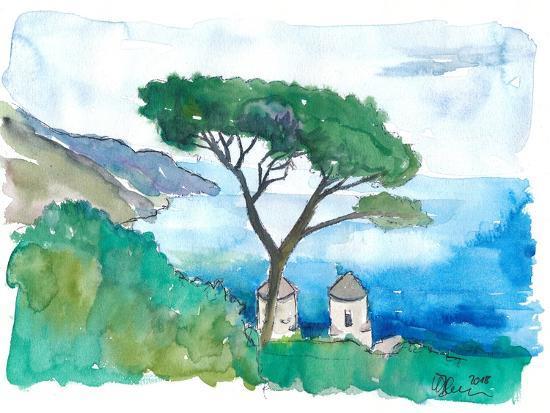 Incredible Amalfi Coast View Ravello Villa Rufolo-M. Bleichner-Art Print