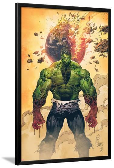 Incredible Hulk No.1 Cover: Hulk Standing-Marc Silvestri-Lamina Framed Poster