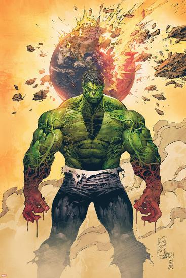 Incredible Hulk No.1 Cover: Hulk Standing-Marc Silvestri-Poster
