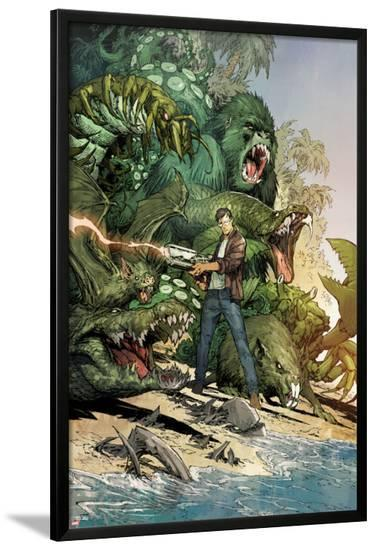 Incredible Hulk No.3: Bruce Banner Shooting, Surrounded by Giant Green Animals-Marc Silvestri-Lamina Framed Poster