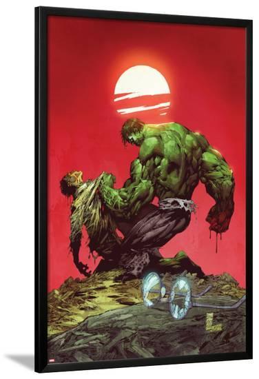 Incredible Hulk No.3: Hulk and Bruce Banner Fighting-Marc Silvestri-Lamina Framed Poster