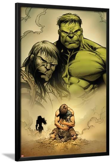 Incredible Hulk No.611: Hulk and Skaar-Paul Pelletier-Lamina Framed Poster