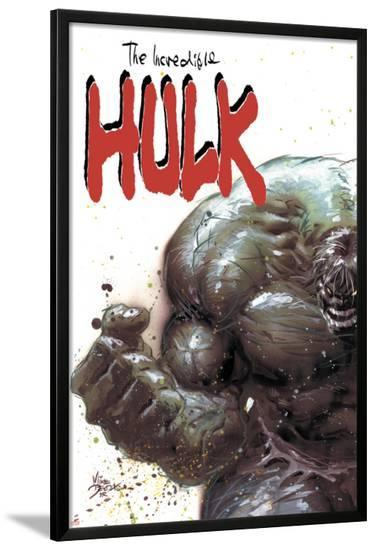 Incredible Hulk No.67 Cover: Hulk Fighting-Mike Deodato-Lamina Framed Poster