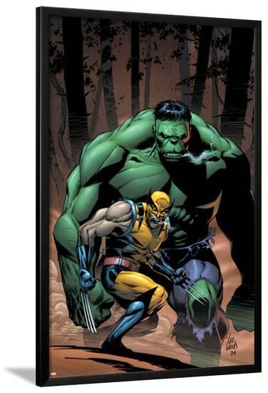 Incredible Hulk No.80 Cover: Wolverine and Hulk-Lee Weeks-Lamina Framed Poster