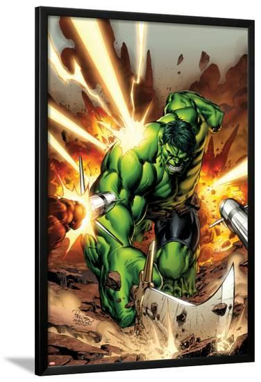 Incredible Hulks No.615 Cover: Hulk Smashing-Carlo Pagulayan-Lamina Framed Poster