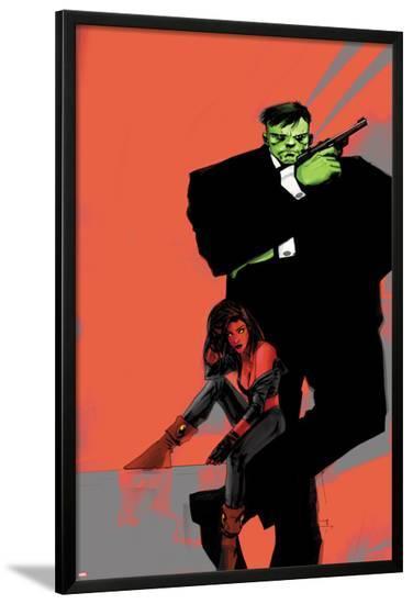 Incredible Hulks No.626 Cover: Hulk and Red She-Hulk-Jock-Lamina Framed Poster
