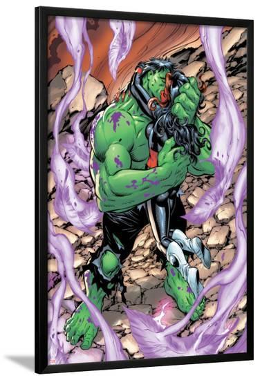 Incredible Hulks No.628: Hulk and Red She-Hulk Hugging and Kissing-Tom Grummett-Lamina Framed Poster