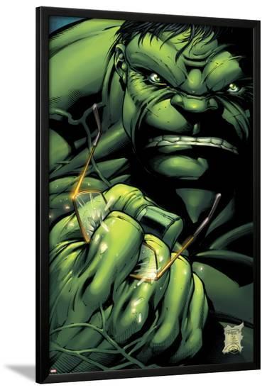 Incredible Hulks No.635 Cover: Hulk Crushing Glasses-Paul Pelletier-Lamina Framed Poster