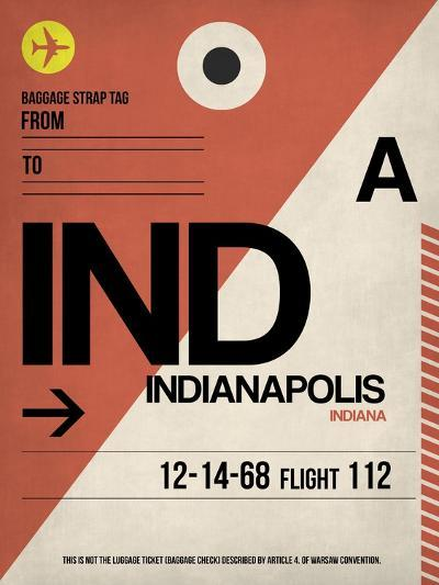 IND Indianapolis Luggage Tag 1-NaxArt-Art Print
