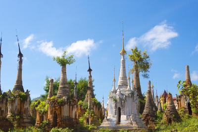 Indein Stupa Complex, Inle Lake, Myanmar-Keren Su-Photographic Print
