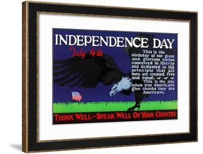 Independence Day July 4Th--Framed Art Print