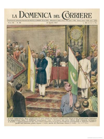 Independence for the Indian Sub-Continent Divides India and Pakistan-Walter Molini-Giclee Print