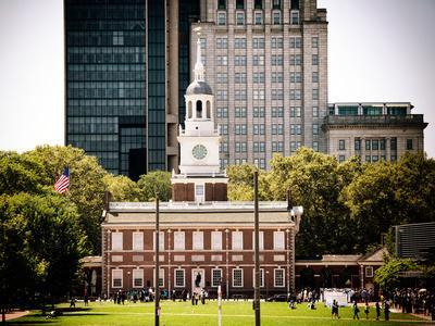 Independence Hall and Pennsylvania State House Buildings, Philadelphia, Pennsylvania, US-Philippe Hugonnard-Photographic Print