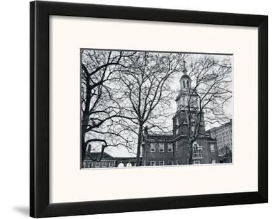 Independence Hall (horizontal)-Erin Clark-Framed Art Print