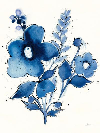 Independent Blooms Blue IV-Shirley Novak-Art Print
