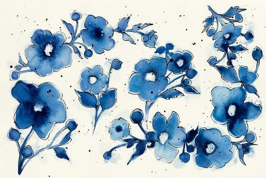 Independent Blooms Element V-Shirley Novak-Art Print