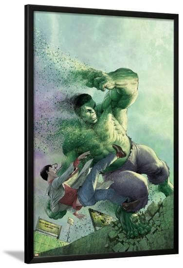 Indestructible Hulk #14 Cover Featuring Hulk, Bruce Banner-Mukesh Singh-Lamina Framed Poster