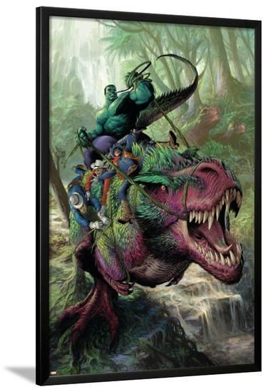 Indestructible Hulk #20 Cover: Hulk, Two-Gun Kid, Kid Colt, Rawhide Kid-Mukesh Singh-Lamina Framed Poster